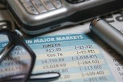 De cijfers van voorraden stock foto's