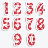De cijfers voor Kerstmisontwerp Stock Fotografie
