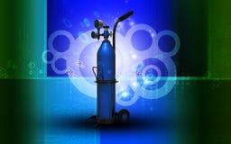 De Cilinder van de zuurstof Stock Afbeelding