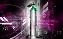 De cilinder van de zuurstof Stock Afbeeldingen