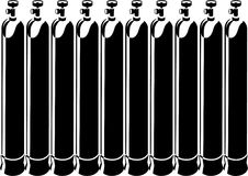 De cilinders van de zuurstof Stock Afbeelding