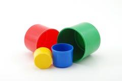 De Cilinders van het stuk speelgoed Stock Afbeeldingen