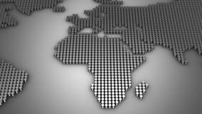 De cilinders vormen een Wereldkaart stock videobeelden