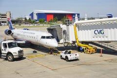 De Cincinnati/Noordelijke Internationale Luchthaven van Kentucky (CVG) Stock Foto