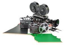 De cinematografie van Koeweit, het concept van de filmindustrie het 3d teruggeven Stock Foto