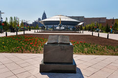 De circusbouw in Astana royalty-vrije stock afbeeldingen