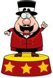 De circusdirecteur kondigt aan royalty-vrije illustratie
