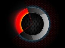 De cirkel abstracte achtergronden van de verlichtingsscène Royalty-vrije Stock Foto's