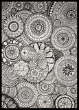 De cirkel creatief art. van het Zendoodlepatroon Royalty-vrije Stock Foto's