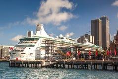 De passagiersterminal overzee in Sydney Stock Foto's