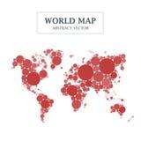 De Cirkel en Dot Design van de wereldkaart royalty-vrije illustratie