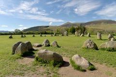De Cirkel en Skiddaw van de Castleriggsteen, Royalty-vrije Stock Fotografie