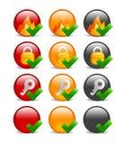 De cirkel Internet reeks van het veiligheidspictogram Royalty-vrije Stock Foto