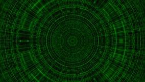 De cirkel met net, abstracte bedrijfswetenschap of 3d computertechnologieachtergrond, geeft achtergrond, geproduceerde terug comp Stock Afbeeldingen