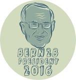 De Cirkel van Bernie Sanders President 2016 Royalty-vrije Stock Afbeelding