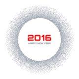 De Cirkel van de de Sneeuwvlok van Gray Frame New Year 2016 Stock Foto