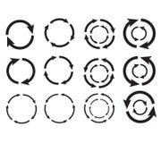 De cirkel van de pijl Stock Foto's