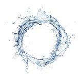De cirkel van de waterplons stock foto