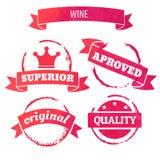 De cirkel van de wijnvlek Royalty-vrije Stock Foto's