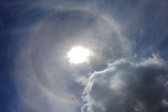 De Cirkel van de zonhalo Stock Afbeeldingen