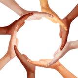 De cirkel van handen stock afbeelding