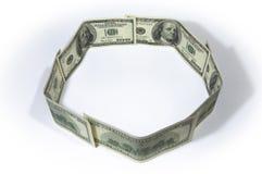 De cirkel van het geld Royalty-vrije Stock Afbeelding