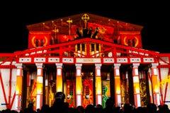 De Cirkel van het Lichte internationale festival 2016 van Moskou Royalty-vrije Stock Fotografie