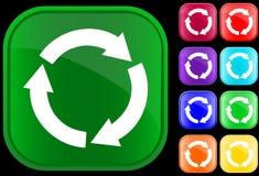 De cirkel van het recycling Stock Foto