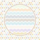 De cirkel van ontwerpkaarten voor uw achtergrond van de tekststip, patroon Pastelkleurpunt op witte achtergrond Vector Stock Foto's