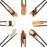 De Cirkel van sushi stock foto's