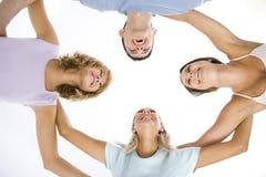 De cirkel van vrienden stock foto's