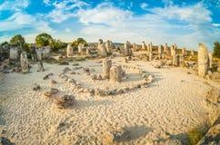 De Cirkel van Wensen bij het Bevindende Stenen natuurreservaat in Bulgarije Stock Foto