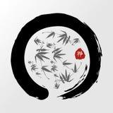 De cirkel van Zen in de illustratie van pastelkleurenpastelkleuren Stock Afbeeldingen