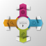 De cirkel vectorconcept van de Infographicpijl Vector Stock Fotografie