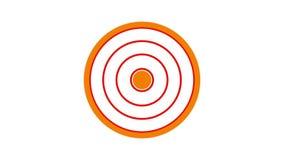 de cirkel, vurige sinaasappel van het ladingsscherm en rood op witte achtergrond - 30fps-lijn - videotextuur, naadloos geanimeerd vector illustratie