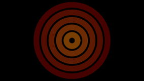 De cirkel, vurige sinaasappel van het ladingsscherm en rood op zwarte achtergrond - 30fps-lijn - videotextuur, naadloos geanimeer stock illustratie