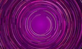 De cirkelachtergrond van de draaikolk purpere lichte motie stock illustratie