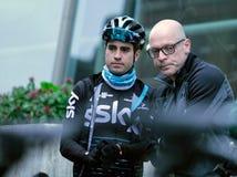 De cirkelend Manager en Rider Mikel Landa van Team Sky royalty-vrije stock foto's