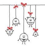 De cirkelfamilie van Kerstmis Stock Afbeelding