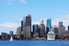 De Cirkelkade van Sydney City View @ royalty-vrije stock afbeeldingen