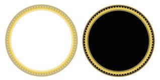De cirkelkader van haaitanden Stock Foto's