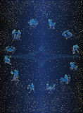 De cirkelprentbriefkaar van Zodiak Royalty-vrije Stock Fotografie