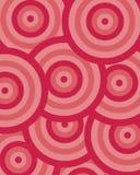 De cirkelrood van het patroon vector illustratie
