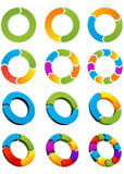 De cirkels van de pijl Royalty-vrije Stock Afbeeldingen