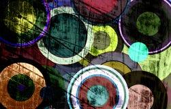 Grungecirkels op de muur royalty-vrije illustratie