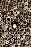 De Cirkels van het bamboe Stock Afbeeldingen