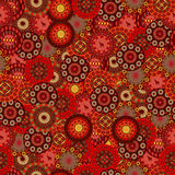 De cirkels van het patroon in Afrikaanse stijl Royalty-vrije Stock Afbeeldingen