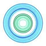 De cirkels van de waterkleur royalty-vrije illustratie