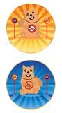De cirkelsticker van hond niet Halal vector illustratie