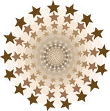 De cirkelstunnel van sterren royalty-vrije illustratie